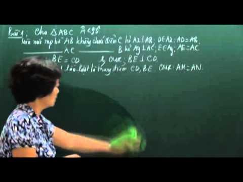 Toán 7 -  Các trường hợp bằng nhau của tam giác (Phần 1) - Cô Phạm Thị Hồng [HOCMAI]