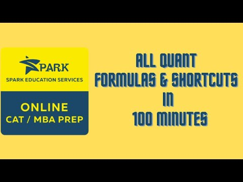 All Quant Shortcuts in 100 mins. By SPARK Education Services, Leading CAT Prep Institute of Pune