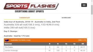 Live: Australia vs India #2ndTest Day3 #Cricket Match English Commentary from Stadium #Sportsflashes