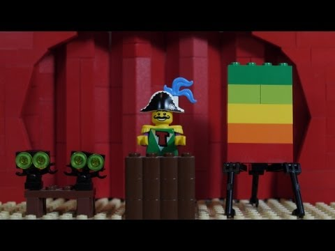 How To Build: LEGO Stage w/ Curtains