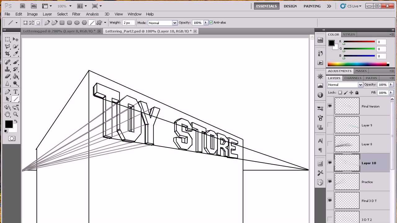 Lettering In Perspective Part   Youtube