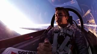INSANE Glider Aerobatic Night show by Luca Bertossio