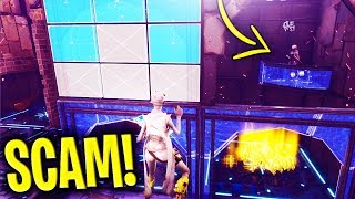 *INSANE NEW SCAM* The INVISIBLE ROOF Scam BEWARE! (Scammer Gets SCAMMED) - Fortnite Save The World
