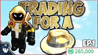 ROBLOX TRADING EP.1 (Trying to get the Sparkle Time Fedora!)