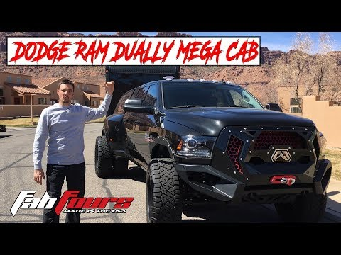 FAB FOURS DODGE RAM DUALLY MEGA CAB:  See All Of The Modifications On This AWESOME Cummins Tow Rig