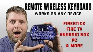 This Remote Wireless Keyboard Is A God Send  |  Mouse Toggle Not Working ? -- No Problem