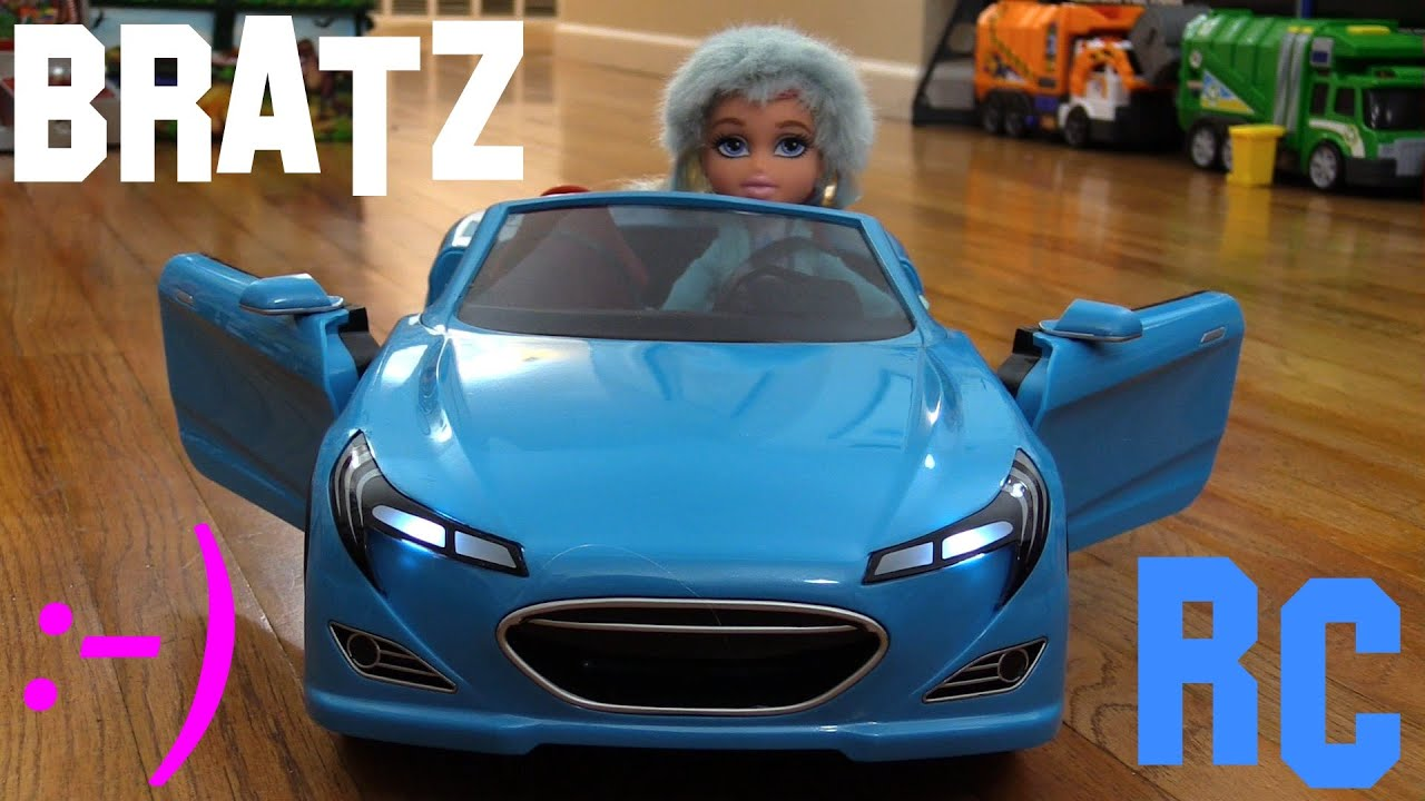 Remote Control Toy Car A Blue BRATZ RC Car And Toy Doll Unboxing - Car show dolls