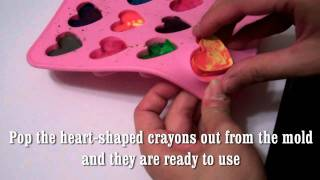 Easy way to recycle old crayons and make them COOL