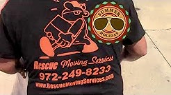 Moving a 8ft couch to the third floor apartment in Lewisville,TX   Rescue Movers