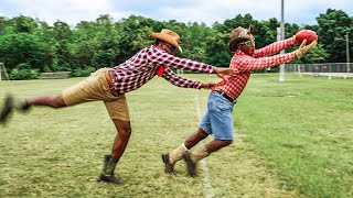 IF LIL NAS X PLAYED FOOTBALL.. (OLD TOWN ROAD 1ON1
