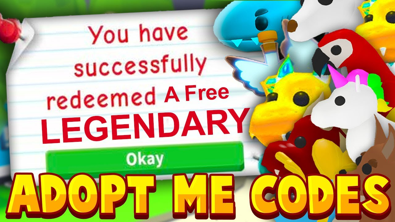 *SECRET* ADOPT ME CODES 2020! FREE LEGENDARY PETS! Adopt Me Giveaway Codes (Working 2020) Roblox