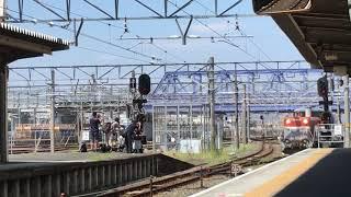 [最後のスカイライナー甲種輸送‼️]DE10–1723号機+ヨ8642+京成スカイライナーAE形 AE9編成 8862レ 豊橋駅 通過‼️