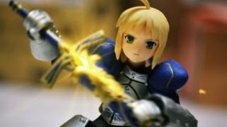 Gundam & Figma Stop Motion : Saber Lily FATE賽芭