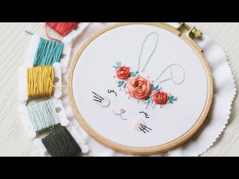 Easter Rabbit. Hand Embroidery Tutorial Step By Step.