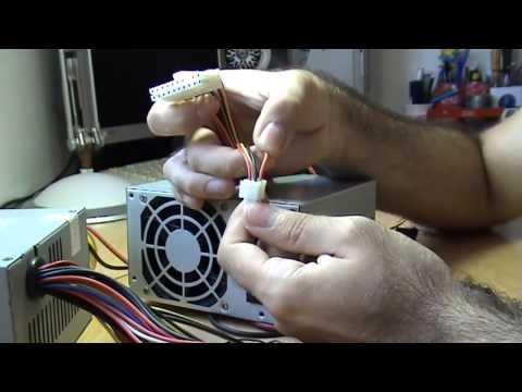Cómo puentear, diagnósticar, medir, comprobar, reparar fuente de alimentación ordenador pc