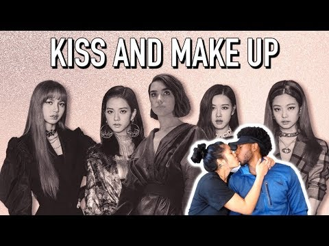 BLASIAN COUPLE REACTS TO DUA LIPA & BLACKPINK - KISS AND MAKE UP (LYRIC VIDEO) | REACTION