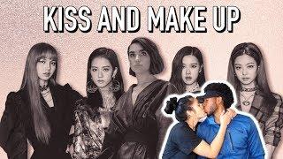 BLASIAN COUPLE REACTS TO DUA LIPA & BLACKPINK - KISS AND MAKE UP (LYRIC VIDEO) | REACTION
