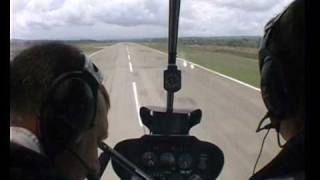 Robinson R44 Helicopter Cockpit Start Takeoff and Taxy by Tim Gilbert