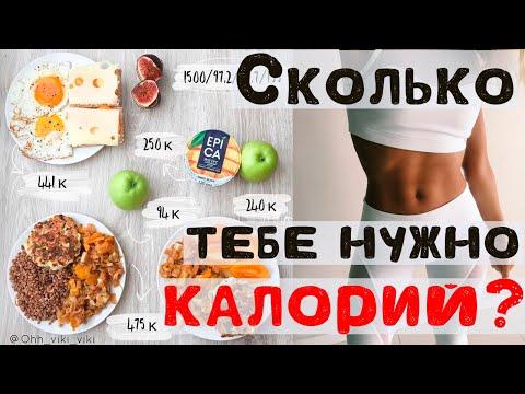 Как посчитать свою норму калорий 💚 Суточный калораж формула