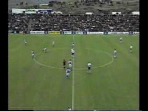 Faroes - Bosnia 2-2. Euro-2000 qualifiers. 2nd half. Missed penalty costed Faroese victory