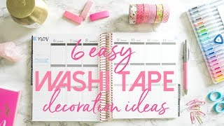 How to Use Washi Tape in Your Planner | 6 Easy and Affordable Planner Decoration Ideas for Beginners