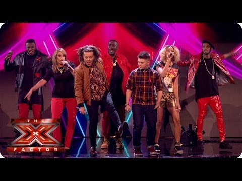 The Final 5 sing Burn by Ellie Goulding- Live Week 8 - The X Factor 2013