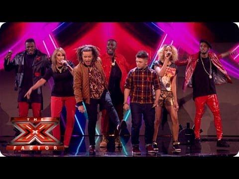 The Final 5 sing Burn by Ellie Goulding- Live Week 8 - The X Factor 2013
