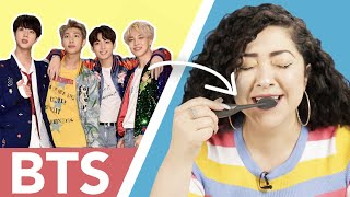 Women Try BTS Boy Band Toothpaste