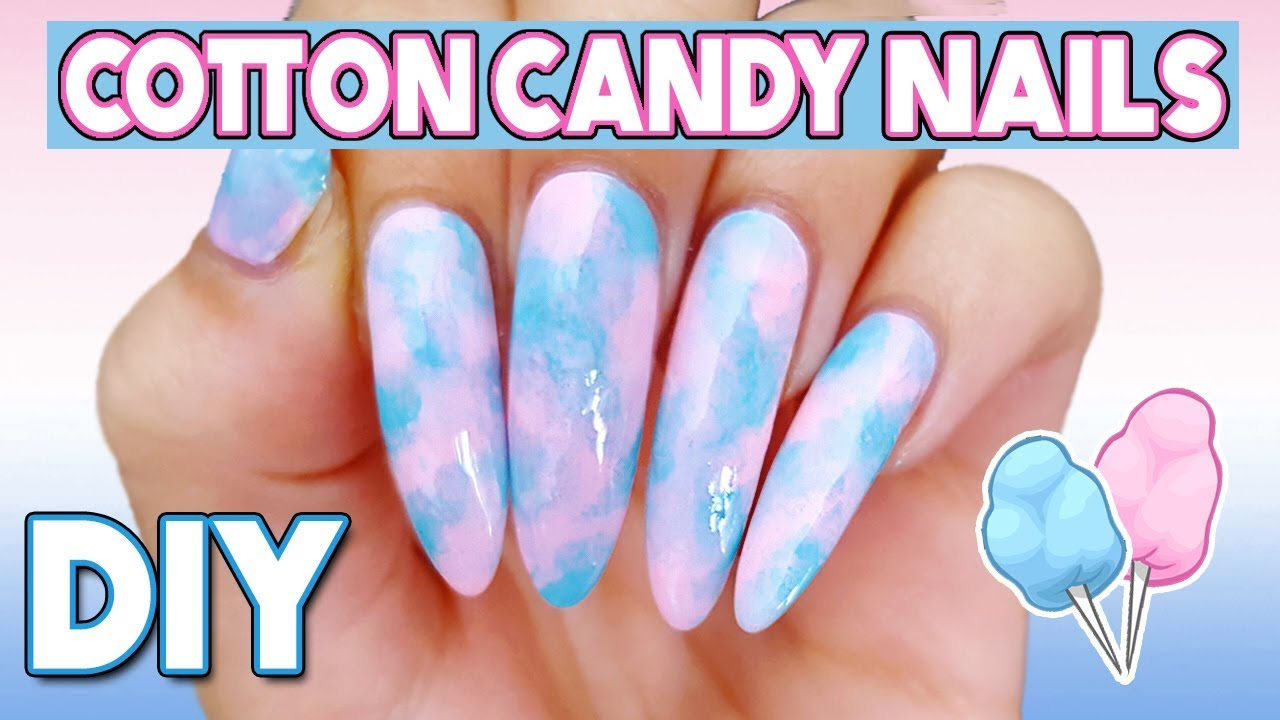 Diy easy cotton candy nails youtube diy easy cotton candy nails solutioingenieria Images