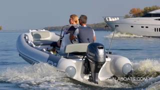 GALA ATLANTIS A360L - 12' Aluminium hull RIB performance presentation