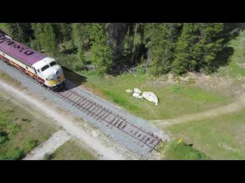 Lake Louise Train Aerial Video