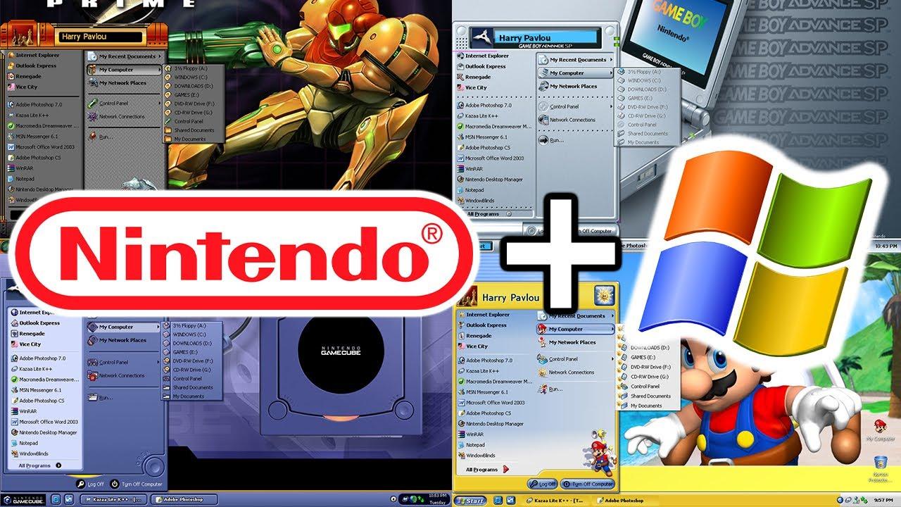 Nintendo Made Windows XP Themes... Let's Explore Them!