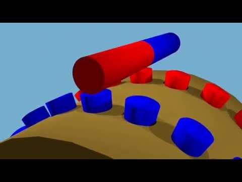 Perpetual motion machine V-Gate, explanation with 3d animation.