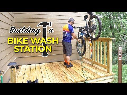 Building a DIY Bike Washing Station with Shoe Bidet