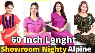 PRIMIUM QUALITY NIGHTY - ALPINE FABRIC - NIGHTY MANUFACTURERS NIGHTY WHOLESALE MARKET PP GOWN