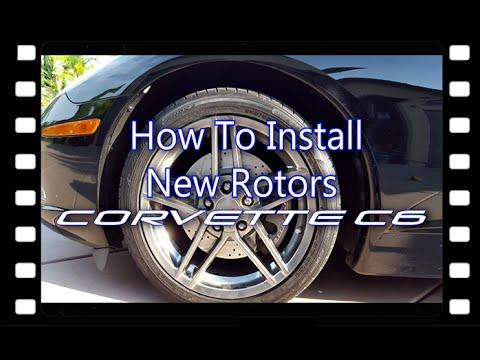 How To Install New Brake Rotors (Brake Motive) | Corvette C6