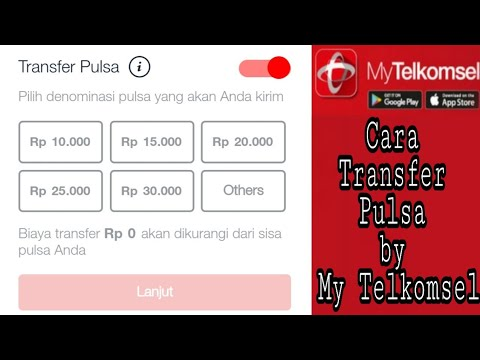 Cara Transfer Pulsa By Mytelkomsel Youtube