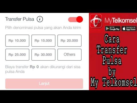 Cara Transfer Pulsa By Mytelkomsel Youtube