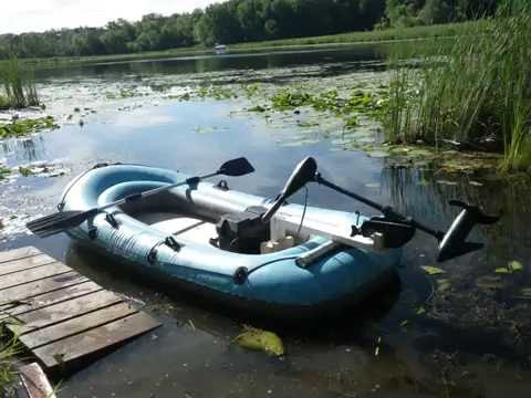 Coleman Navigator 4-Person Inflatable Boat with Trolling Motor *BONUS  fishing footage in end!!!*