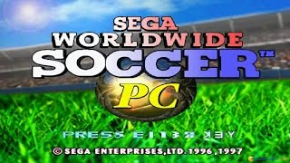 SEGA Worldwide Soccer gameplay (PC Game, 1997)
