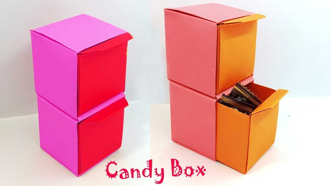 How To Make A Paper Candy Box With Drawers Easy Tutorial For Kids