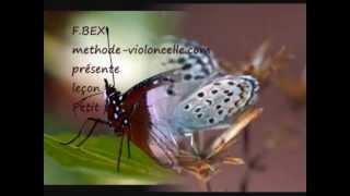 """""""Petit papillon"""" leçon 4, livre I - Le Tour du Violoncelle en 80 leçons"""