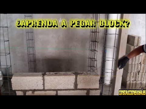 Aprenda A Pegar Block | CONSTRUCCIONES IDEALES