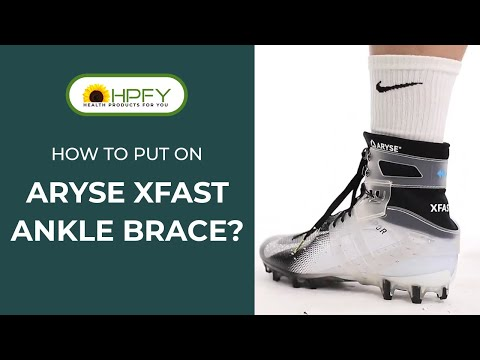 How To Put On Aryse XFast Ankle Brace?