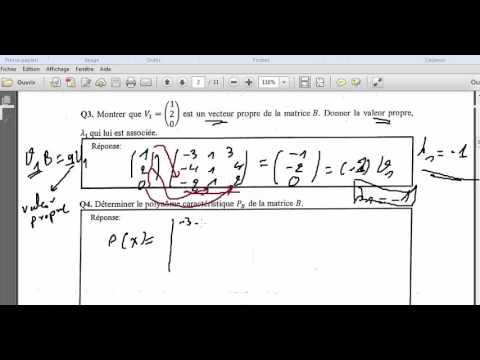 #1# concour bac+2 enset mohammedia 2013 Mathématique Matrice (partie 1)