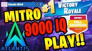 ATLANTIS MITRO INSANE FALL SKIRMISH WIN | Fortnite Battle Royale