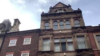 Фото Старинные здания Ньюкасла. Облицовка цокольного этажа.