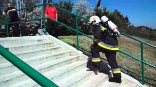 Tűzoltó lépcsőfutó verseny Dunaújváros
