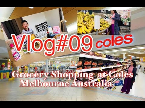 Grocery Shopping At Coles Melbourne Australia
