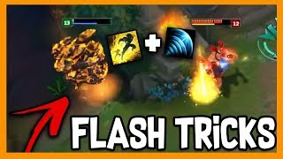 TOP 30 FLASH TRICK COMPILATION -  FLASH TO DODGE TOWER | Lol Funny Moments